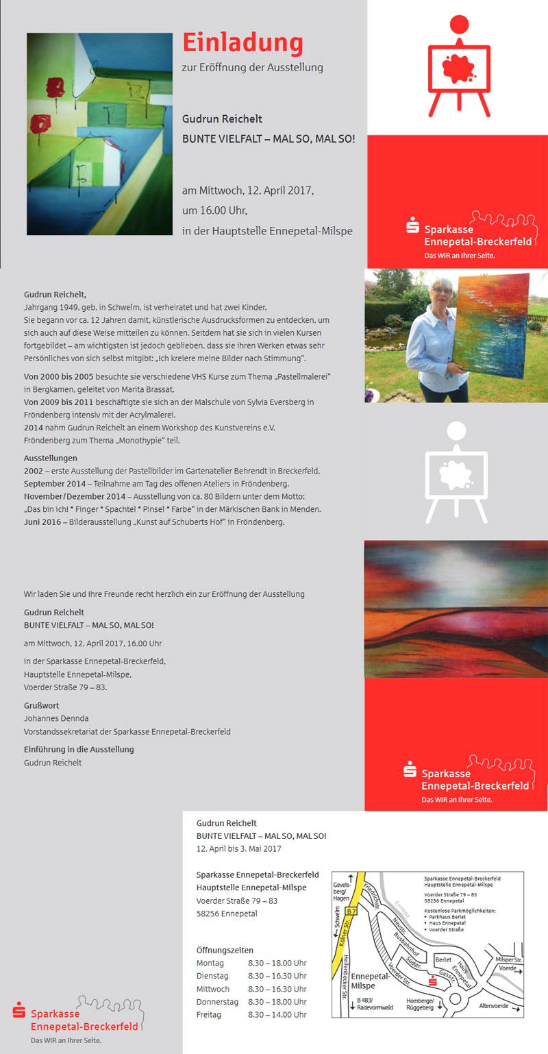 Einladung zur Ausstellung Gudrun Reichelt | KulturgartenNRW e.V.